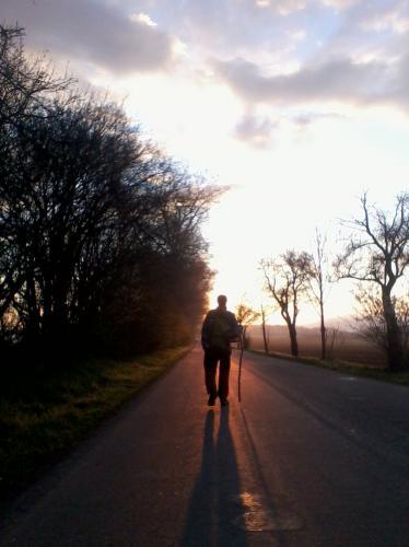úsvit cestou do Jevíčka